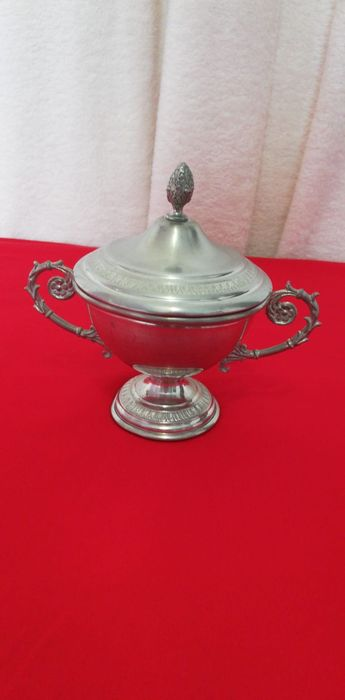 Etain Veritable Pewter Zinn Tin.  - suikerpot - Tin