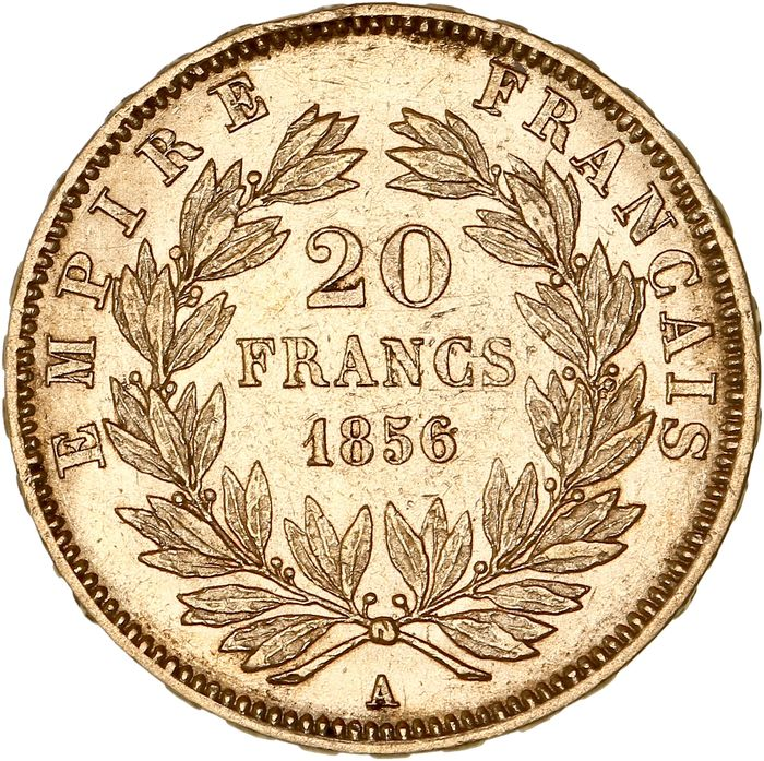 France - 20 Francs  1856-A Napoléon III - Or