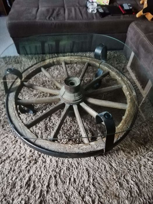 Marvelous Coffee Table Glass Iron Cast Wrought Wood Oak Catawiki Gamerscity Chair Design For Home Gamerscityorg