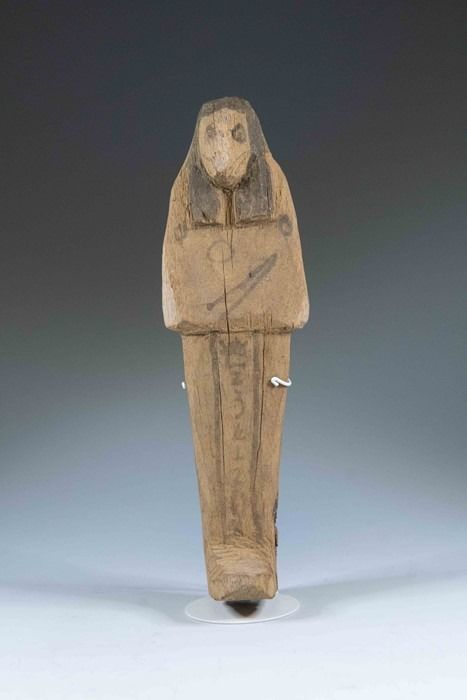 Ancient Egyptian Wood Ex. Flinders Petrie Wooden Shabti - 15×4×15 cm - (1)