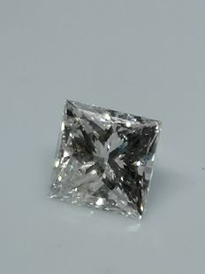 1 pcs Diamant - 1.08 ct - Prinzess - F - SI2