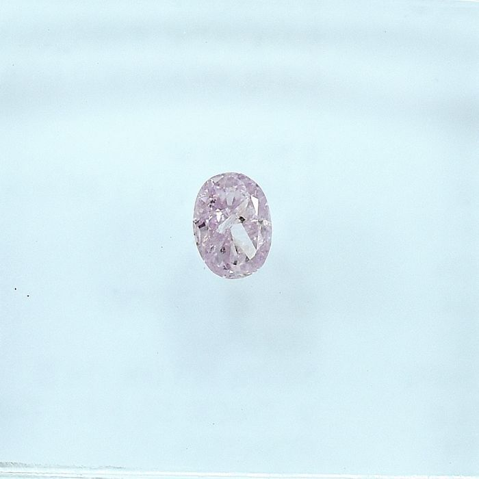 Diamant - 0.10 ct - Ovaal - Natural Fancy Light Pink - I2 - NO RESERVE PRICE