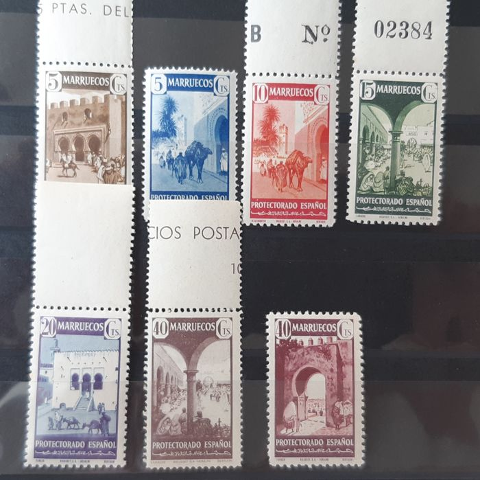 Morocco - Spanish post offices 1941 - Different types. Complete set. - Edifil 230/40