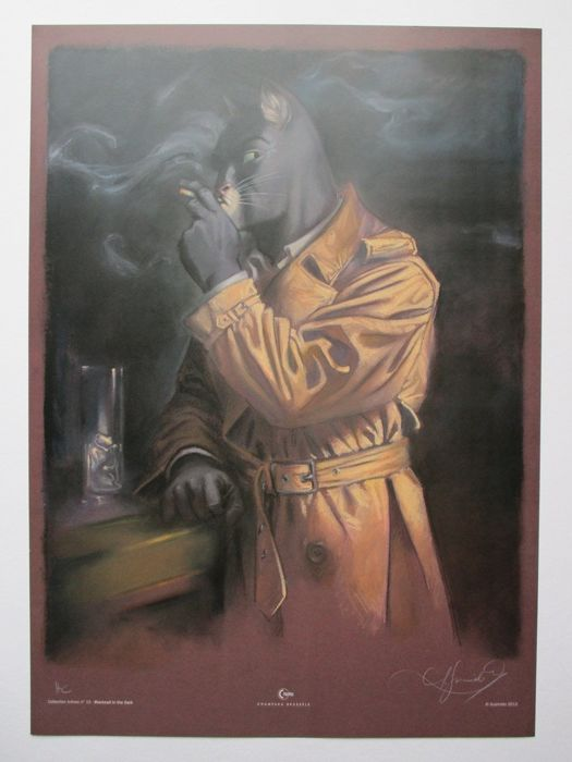 Blacksad - gesigneerde prent - Blacksad in the dark - First edition - (2012)