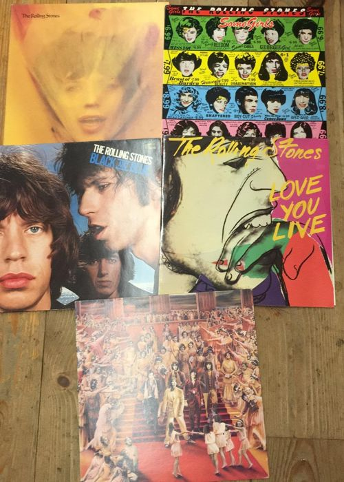 Rolling Stones - Black and blue, Love you live, it's only rock 'n roll, goat's head soup, some girl  - Multiple titles - LP Album, LP's - 1978