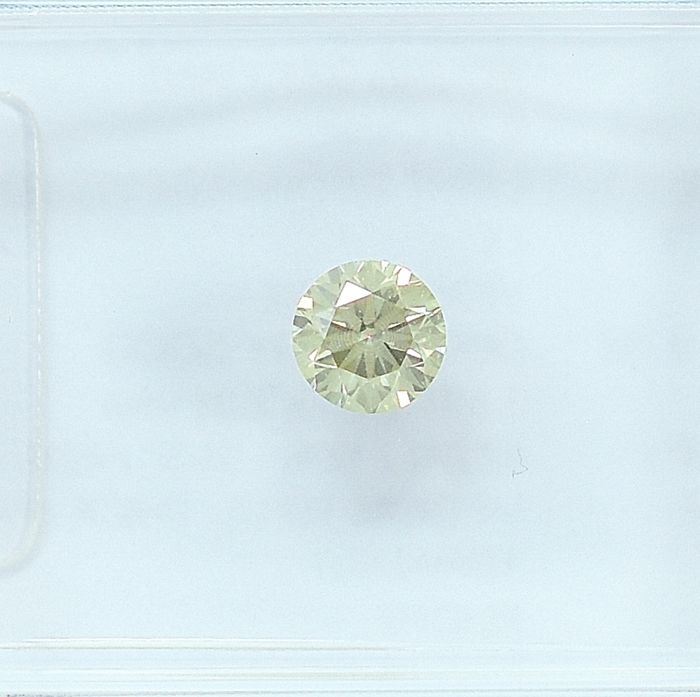 Diamant - 0.20 ct - Briljant - Light Brownish Yellow - I1 - NO RESERVE PRICE