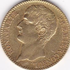 France - 40 Francs An 12-A Bonaparte Premier Consul - Gold