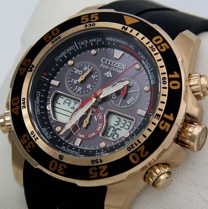 "Citizen - Eco Drive Promaster World Time, Professional Crono, Alarm, ""Gold"" 200M - Heren - 2011-heden"