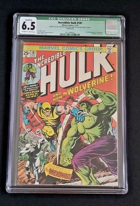 Incredible Hulk #181 - #181 First App Wolverine - CGC 6.5 - First edition - (1974)