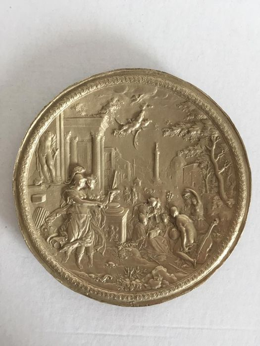 After the example of Hans Jakob Bayr  - Medal The rape of the Sabinas - Silvered bronze
