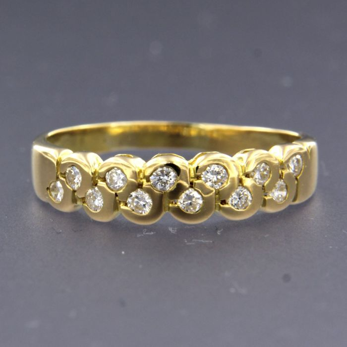 18 quilates Oro amarillo - Anillo - 0.36 ct Diamante
