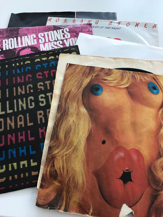 Rolling Stones & Related - Collection of 6 original singles   - Multiple titles - 45 rpm Single - 1972