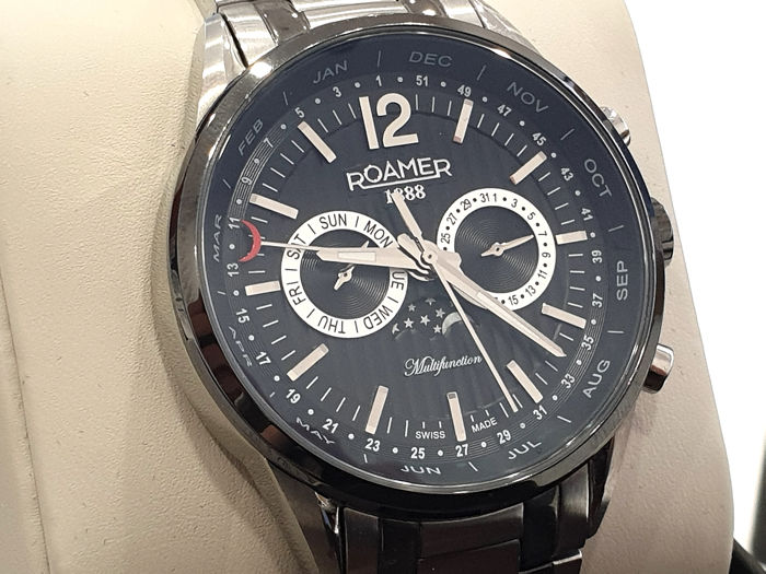 """Roamer - """" NO RESERVE PRICE """" Superior Business Moonphase   - 508822.40.54.50 - Swiss Made - Men - 2011-present"""