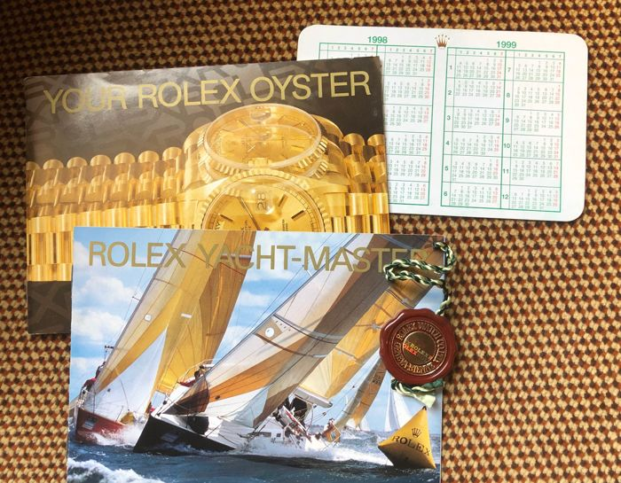 Rolex - YACHTMASTER 1999 ENG. 4x ITEM - 2x Booklet, red tag, calendar, 1999 - Unisex - 1999