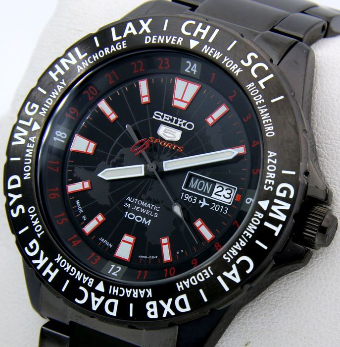 "Seiko - ""NO RESERVE PRICE""- Automatic World Time SPECIAL EDITION ""50th Anniversary 1963-2013"" -Made in japan - Heren - 2013"