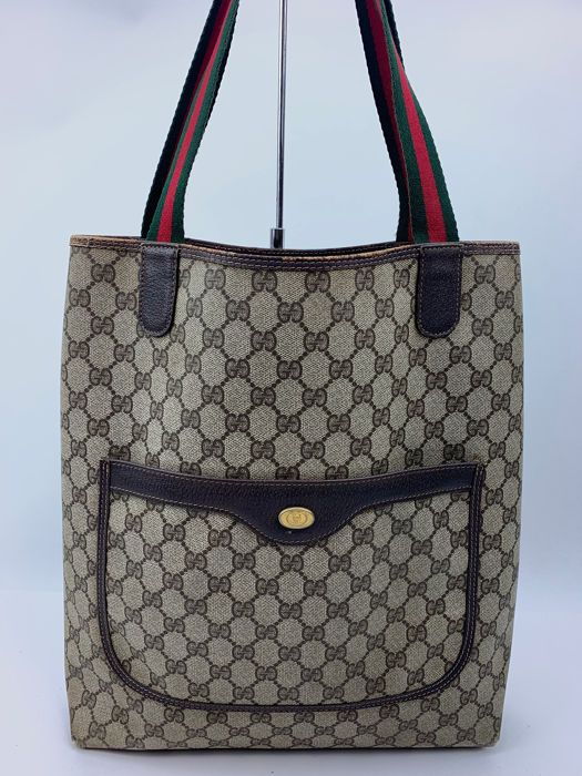fabc77ca9 Gucci - GG Pattern-Old Gucci- Tote bag - Catawiki