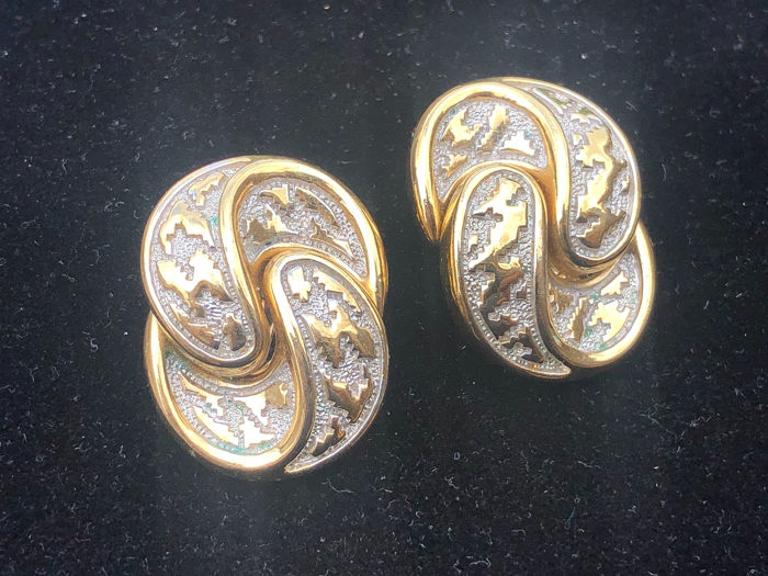 Gold-plated - Christian Dior statement earrings