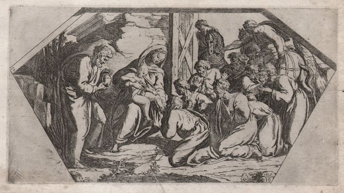 Raphael ( 1483-1520 ) by Borgianni ( 1578-1616 ) - Visit of the Magi