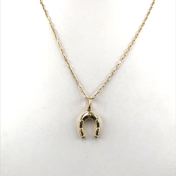 18 kt. Yellow gold - Necklace with pendant
