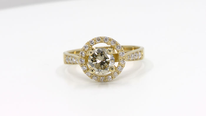 14 kt. Yellow gold - Ring - 0.70 ct Diamond - Diamonds