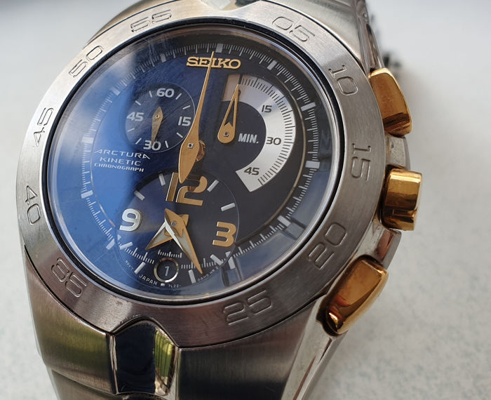 Seiko - Arctura Kinetic Blue Dial - 7L22-0AJ0 - Heren - 2011-heden
