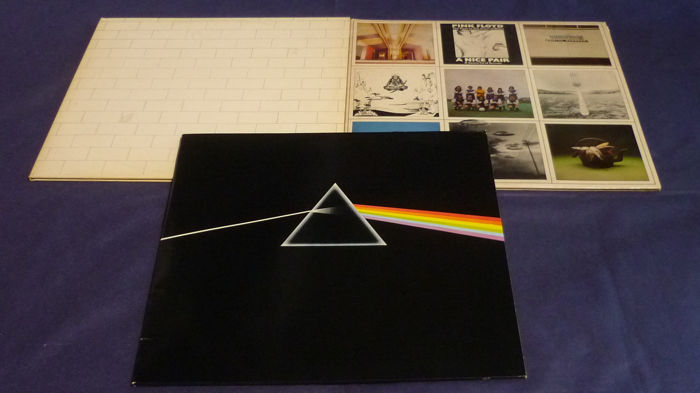 Pink Floyd - The Wall (Sweden Press), Dark Side of the Moon with 2 Poster and 2 Cards & A Nice Pair (US Press) - Diverse Titel - 2x LP Album (Doppelalbum) - 1975/1979
