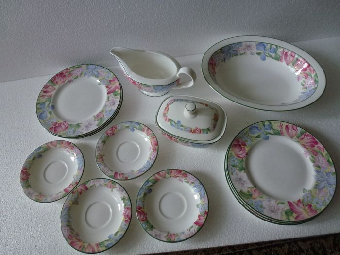 Royal Albert  - Fonteyn - Breakfast plates loose parts (13) - Porcelain