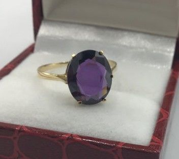 18 kt. Yellow gold - Ring - 10.00 ct Amethyst
