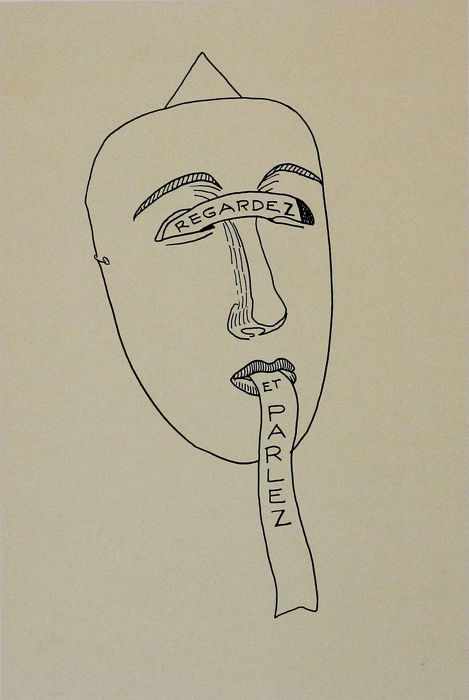 Man Ray - Untitled from 'Les six masques voyant' portfolio