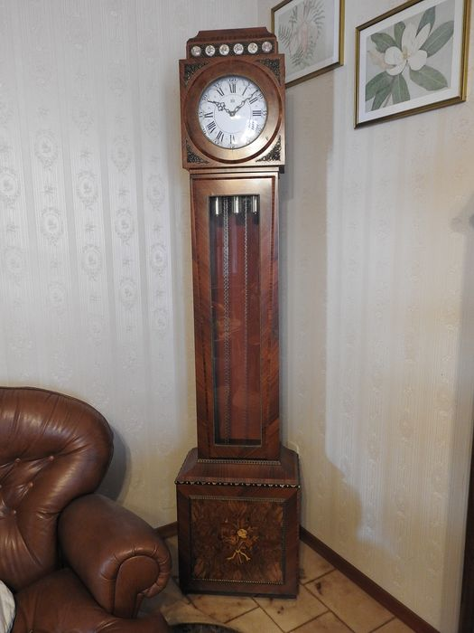 Grandfather clock - Wood, Mahogany - Second half 20th century