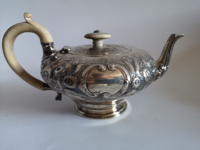 Teapot - .925 silver - William Cooper, London - England - 1836