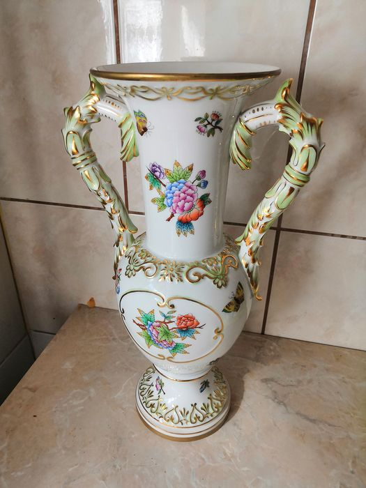 Baroque Herend Vase - Porcelain