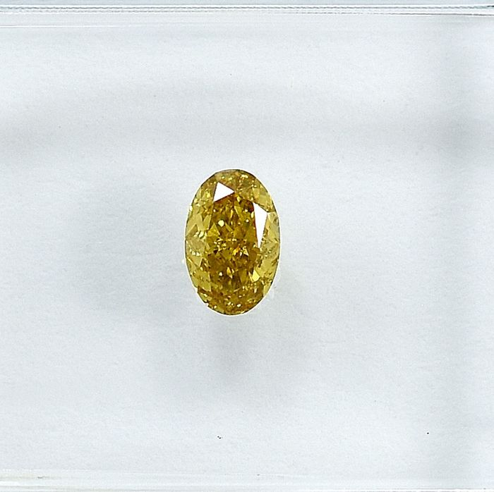 Diamant - 0.29 ct - Ovaal - Natural Fancy Yellow - VS2
