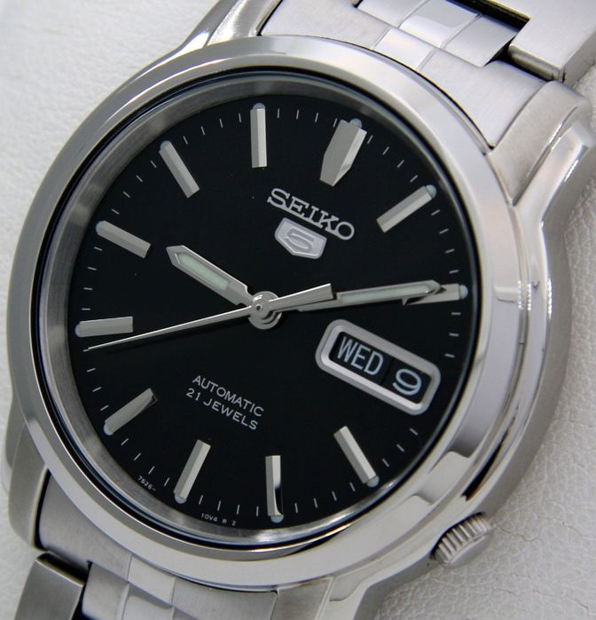 "Seiko - Unisex Automatic 21 jewels ""Black Dial"" - ""NO RESERVE PRICE"" - Unisex - 2018"