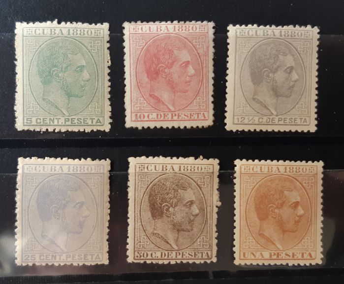 Cuba - Spanish colony 1880 - Alfonso XII. Complete set. Well centred - Edifil 56/61