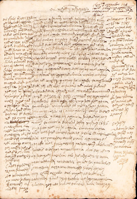 Corleone Official Notary - Manuscript; Sale act for a Warehouse in San Coniglione, Catania - 1567