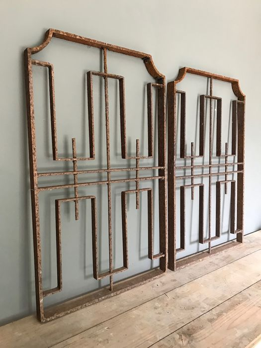 French window shelves - Art Deco style - Iron (wrought) - 20th century