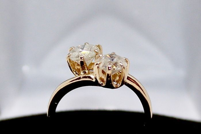 14 carati Oro giallo - Anello - 1.33 ct Diamante