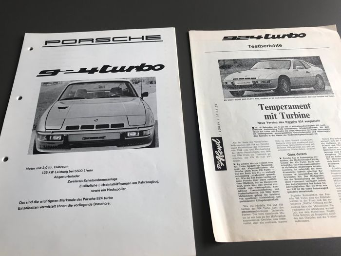Brochures / catalogues - Porsche - Porsche 924 Turbo Introductie handboek werkplaats information - 1977-1978