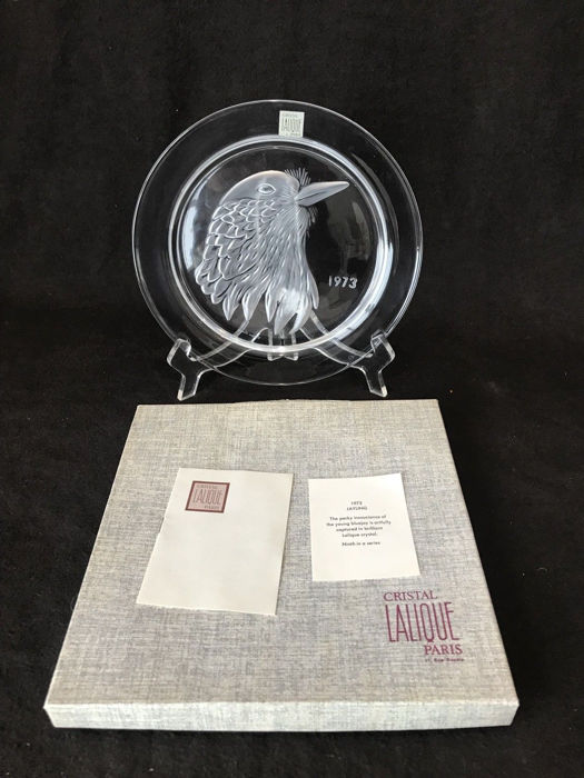 Lalique - 1973 Year Plate - Jayling - Crystal