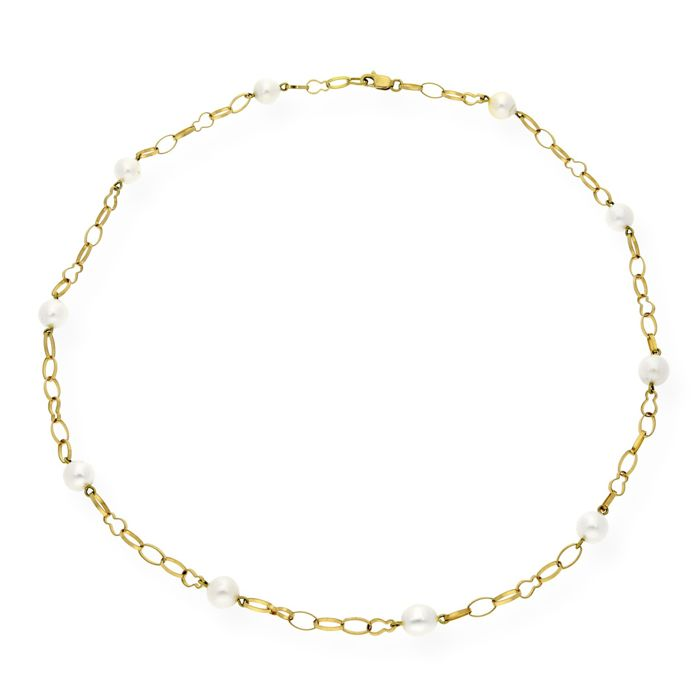18 kt. Akoya pearl, Yellow gold - Necklace Pearl