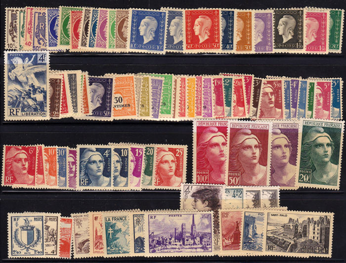 Frankrijk 1945/1959 - Collection of 15 years without anything missing - Yvert de 670- 1229