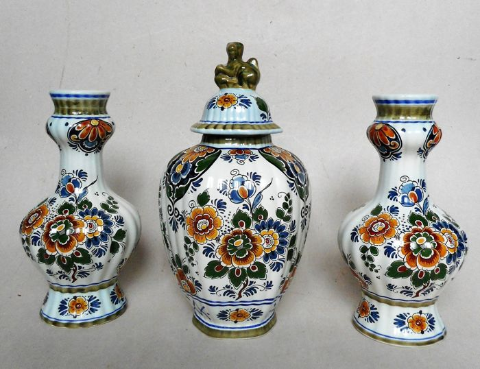 Delft Polychrome - Cabinet set (3) - Ceramic