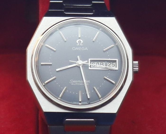 """Omega - Seamaster Octagon cal.1020 """"NEW"""", grey dial. - 3660863 - Homme - 1970-1979"""
