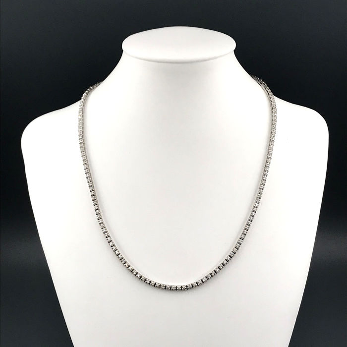 18 kt. White gold - Necklace - 2.30 ct Diamond