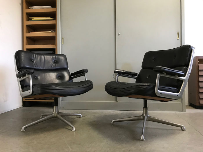 Charles and Ray Eames - Herman Miller - fauteuils (2) - TIME LIFE Lobby chair, mod. 675