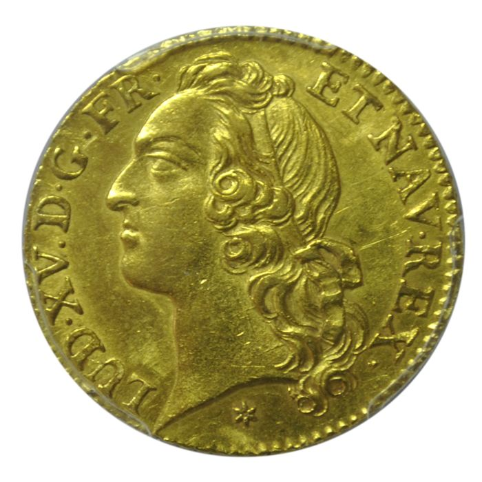France - Louis XV - Louis d'or 1743-C (Caen) - PCGS AU58 - Gold
