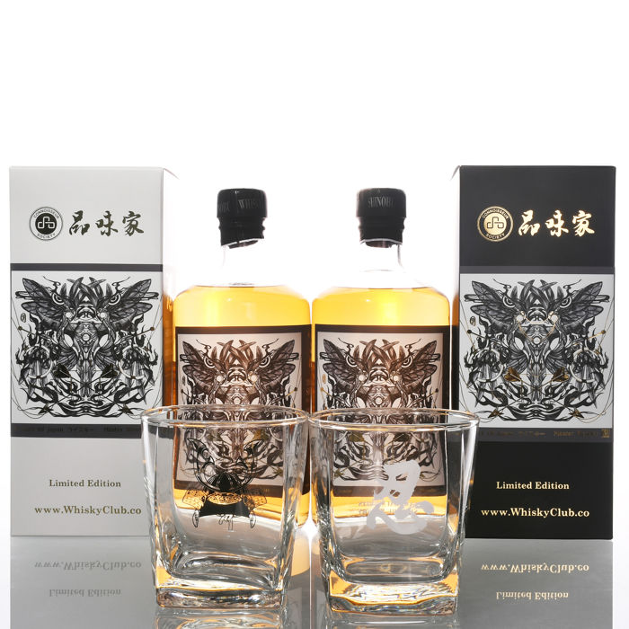Shinobu Hybrid Collection - Bone  Pure Malt Mizunara Japanese Oak Limited Edition - one of 120 bottles - 700ml - 2 bottles