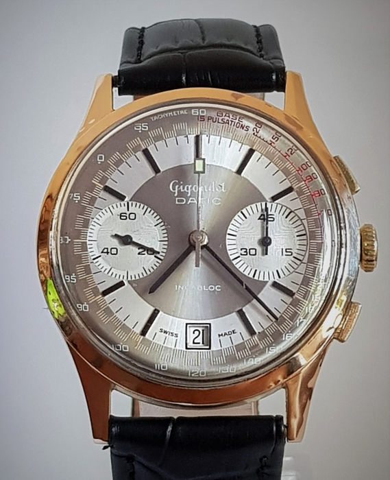 "Gigandet - Datic Solid 18k Chronograph - ""NO RESERVE PRICE"" - Uomo - 1960-1969"