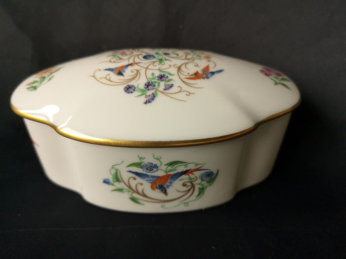 Limoges & Reuge Music-Music Box - Porcelaine